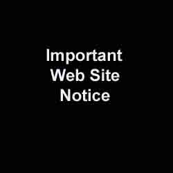 Spacer; Important Web Site Notice